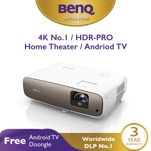 Foto Produk Proyektor BenQ W2700i 4K HDR-PRO Home Teather Short Throw Android TV dari BenQ Official Store