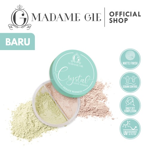 Foto Produk Madame Gie Crystal Loose Powder - 02 Green dari Madame Gie Official