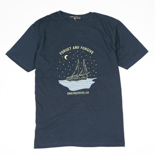 Foto Produk Dailyoutfits Kaos Tshirt Forget and Forgive Navy - M dari Daily Outfits DYO