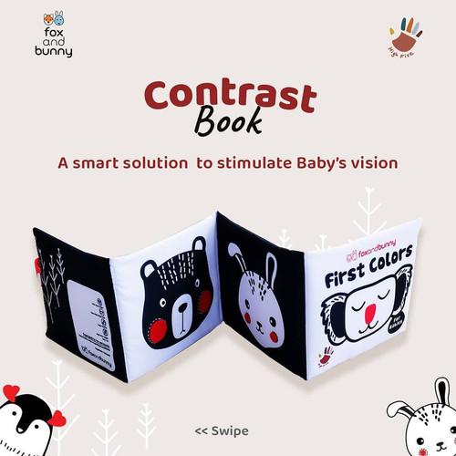 Foto Produk Buku Bayi   Beli 2 Gratis 1   Baby Book by Fox and Bunny   0-1 Tahun - Contrast dari Fox and Bunny Official