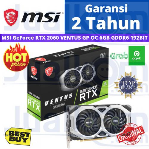Foto Produk MSI GeForce RTX 2060 VENTUS GP OC 6GB GDDR6 192BIT RTX2060 VGA dari Karya Megah Computers