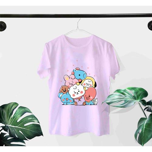 Foto Produk Baju Atasan Kaos Tee Tshirt Wanita Dewasa ABG Remaja Motif - BTS Full dari REFLAVA