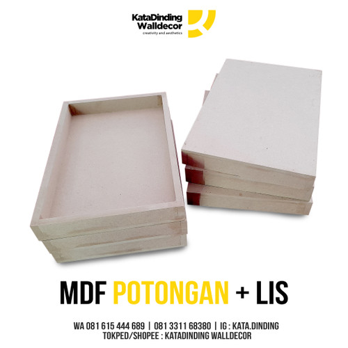 Foto Produk Papan MDF Potongan + Lis Ukuran 20x30 dari Katadinding Walldecor