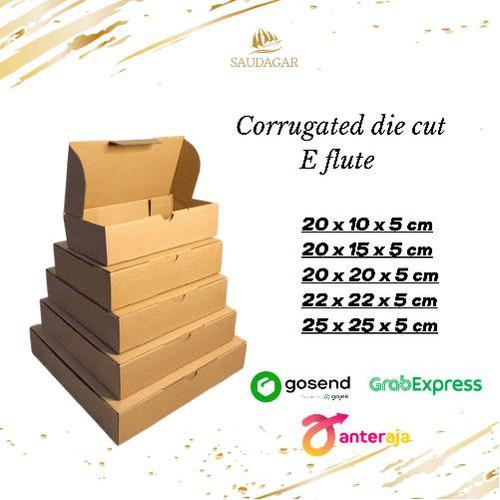 Foto Produk Kardus die cut 22x22x5 cm / box souvenir / dus packing online / pizza - DIE CUT 20X10X5 dari Saudagar Packaging