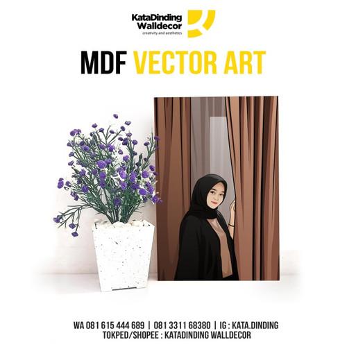 Foto Produk MDF Vector Art ukuran 30x40cm kado ulang tahun, wisuda, weding dll dari Katadinding Walldecor