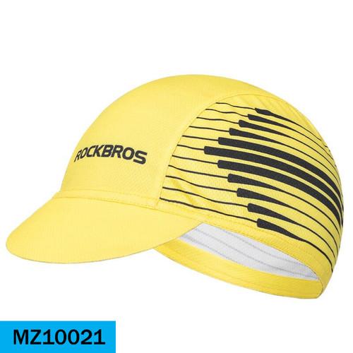 Foto Produk Rockbros MZ100 Topi Sepeda Bicycle Cycling Cap Breathable& Dry Fit Hat - 21-OrangeStrp dari Maxxiebike
