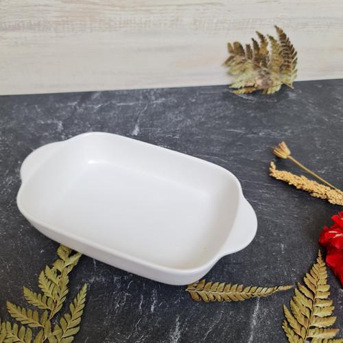 Foto Produk piring saji keramik tahan panas - White dari Hometria