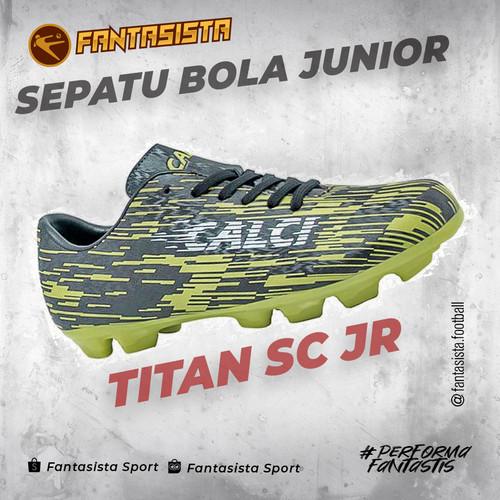 Foto Produk SEPATU BOLA ANAK CALCI - TITAN SC JR & TITAN Z SC JR - ORIGINAL - TITAN JR BLACK, 34 dari fantasistafootball