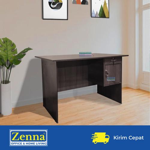 Foto Produk Zenna meja tulis rozo / meja kantor / meja kerja / meja 1/2 biro - Dark sonoma, Packing dari Zenna Office & Home Living