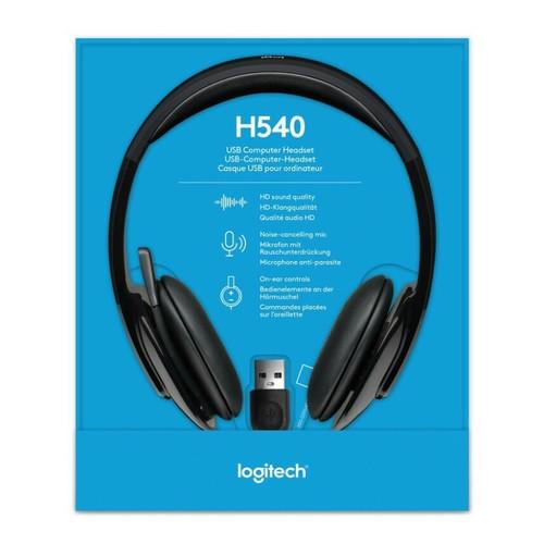 Foto Produk Headset Headphone Logitech H540 USB Stereo dari PojokITcom Pusat IT Comp