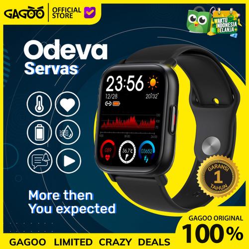 Foto Produk Smartwatch Odeva Servas [ORIGINAL] Smart Watch thermometer & Oximeter - Hitam dari Gagoo Official Store