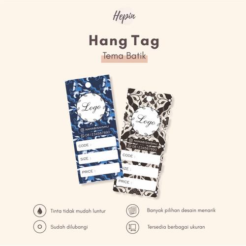 Jual Hang Tag Edisi Batik Online Shop Kota Magelang Hepinproduction Tokopedia