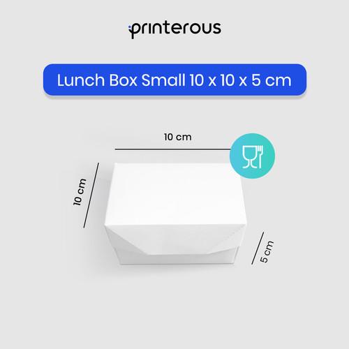 Foto Produk Paper Lunch Box Small / Kotak Makan Kertas Kecil dari Printerous