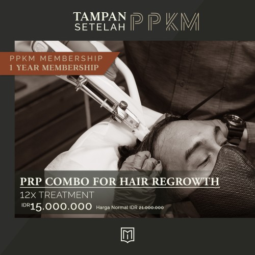 Foto Produk Tampan Setelah PPKM - 1 Year Membership PRP Combo for Hair Regrowth dari MENOLOGY by ZAP