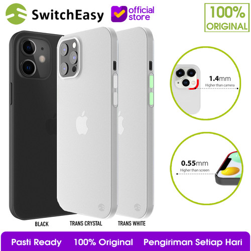 Foto Produk SwitchEasy 0.35mm Case iPhone 12 Pro Max / 12 Mini / 12 Pro Casing - iPhone 12ProMax, Black dari SwitchEasy Official