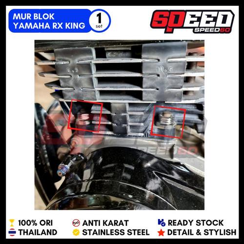 Foto Produk Mur Blok Head RX King Mur Probolt Stainless King Nut Thailand - Silver, GEAR dari speed60