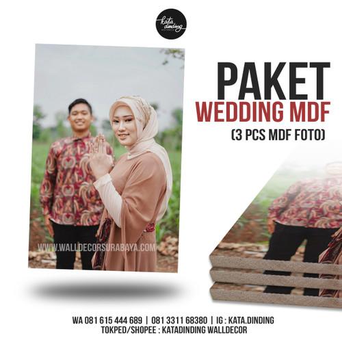 Foto Produk Paket Foto Wedding MDF 20x30cm (3pcs) dari Katadinding Walldecor