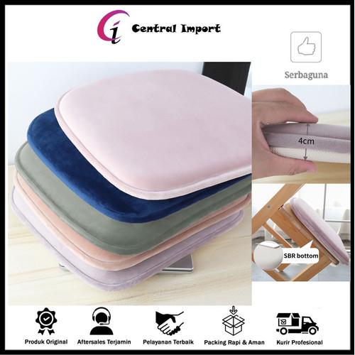 Foto Produk Bantal Kursi Lembut - Bantal Alas Duduk - Bantal Alas Kursi Kayu 40cm - Peach dari Central Import