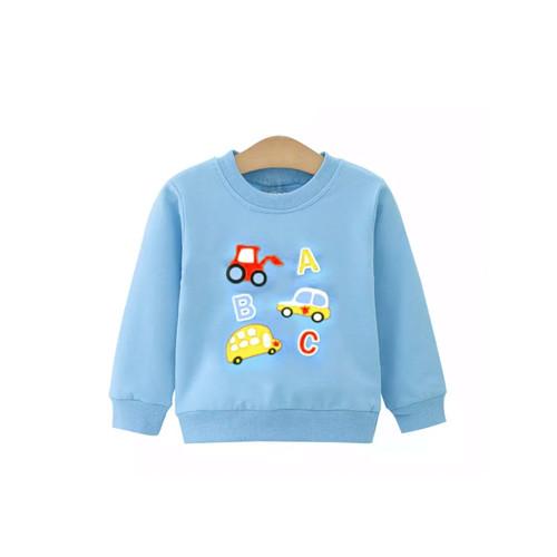 Foto Produk Transportation Sweater / Jaket Bayi / Atasan Bayi - Biru Muda, 9-12 Bulan dari Abby Baby