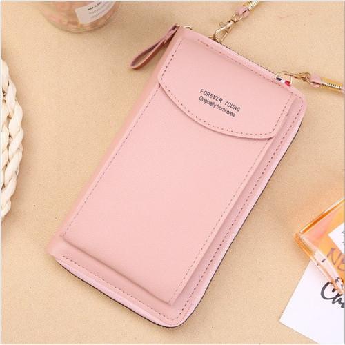 Foto Produk DS99 Taas selempang poket HP tas selempang dompet wanita murah tas hp - Merah Muda dari dream_shop_99