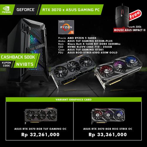 Foto Produk GeForce RTX 3070 x ASUS Gaming PC AMD Ryzen 5 DIY Rakitan - PC 3070 TUF dari YOUNGS COMPUTER