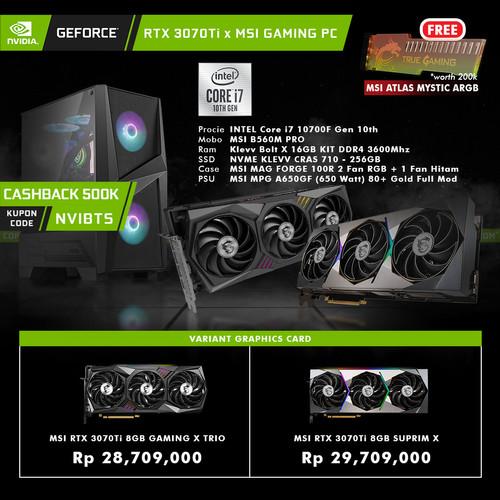 Foto Produk GeForce RTX 3070 Ti x MSI Gaming PC Intel Core i7 DIY Rakitan 3070Ti - PC 3070Ti Gm X dari YOUNGS COMPUTER