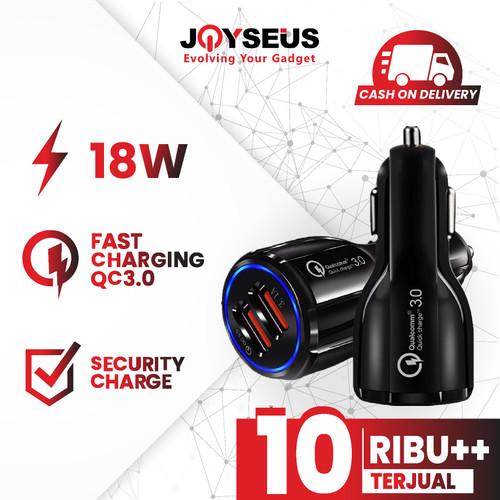 Foto Produk JOYSEUS QC3.0 Car Charger 3.1A Dual USB FAST Charging Black - CM0001 dari Joyseus Official Store