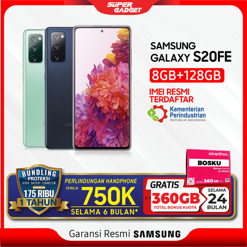 Foto Produk Samsung Galaxy S20 FE Fan Edition Ram 8 GB Rom 128GB 8/128 8GB 128 ORI - Cloud Navy, Non Bundle dari SUPER_GADGET