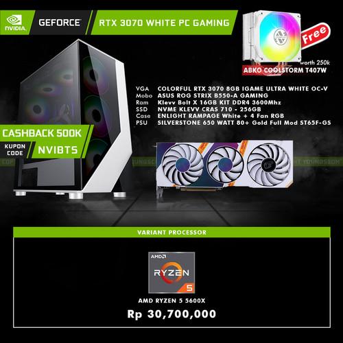 Foto Produk GeForce RTX 3070 White PC Gaming AMD Ryzen 5 DIY Rakitan dari YOUNGS COMPUTER