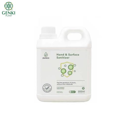 Foto Produk Pureco Hand & Surface Sanitizer (Cucumber) - 900 ml dari Genki Plant