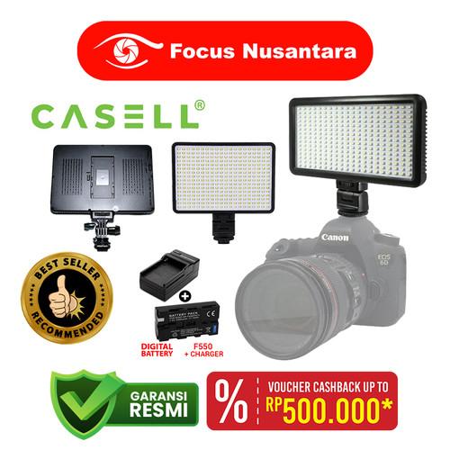 Foto Produk CASELL LED-320 With F550 + EU Charger USB dari Focus Nusantara