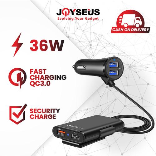 Foto Produk JOYSEUS 4 Ports QC3.0+2.4A+3.1AUSB Car Charger - CM0005 dari Joyseus Official Store
