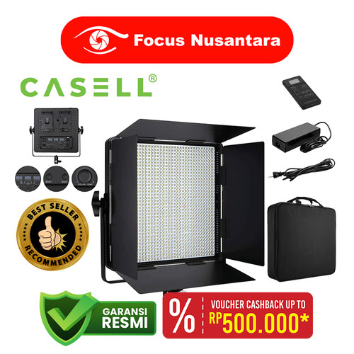 Foto Produk CASELL LED-1296AS With EU Charger Double Color+Plate for Broadcast Vid dari Focus Nusantara