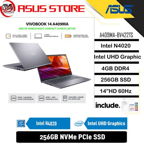 Foto Produk ASUS VIVOBOOK A409MA-BV422TS DUALCORE N4020 4GB 256GB INTEL UHD OHS dari Asus Store Makassar