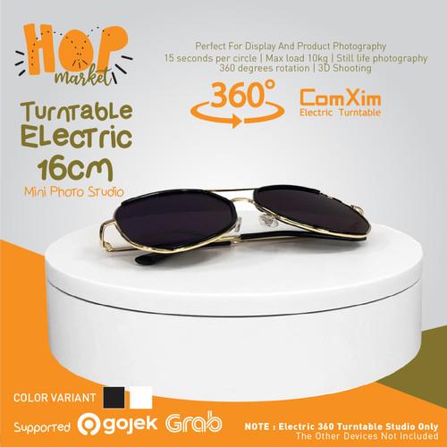 Foto Produk Turntable Tempat Foto Produk Putar Stand Display Rotating Studio 16CM - WHITE dari HOP Market