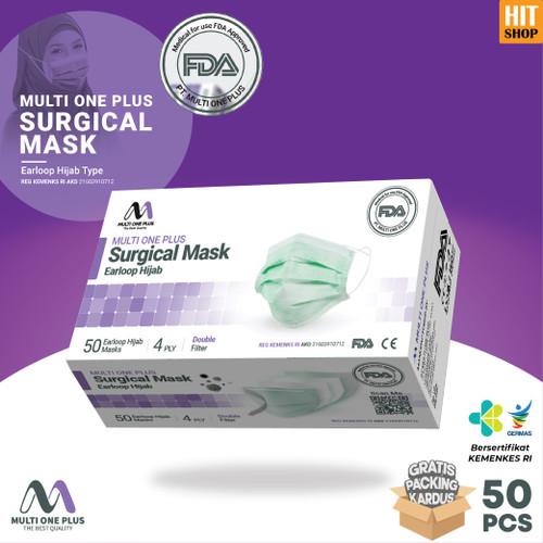 Foto Produk Masker Surgical Multi One Plus 4 Ply Hijab Type Isi 50 Pcs Original dari HITSHOP INDONESIA