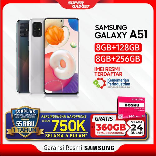 Foto Produk Samsung A51 8/256 GB Galaxy Amoled RAM 8 ROM 256 8GB 256GB Murah Resmi - Metallic Silver, Non Bundle dari SUPER_GADGET