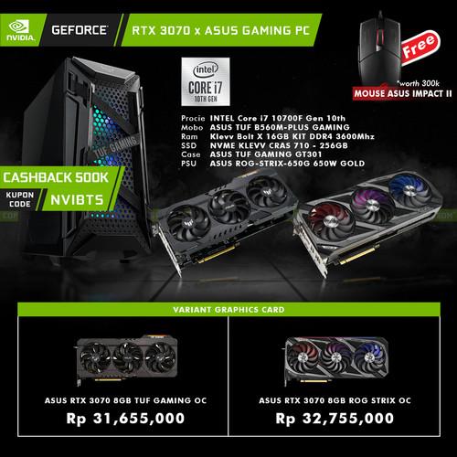 Foto Produk GeForce RTX 3070 x ASUS Gaming PC Intel Core i7 DIY Rakitan - PC 3070 TUF dari YOUNGS COMPUTER