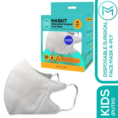 Foto Produk Masker Anak Duckbill Kids Maskit 4ply - Putih dari Maskit Store