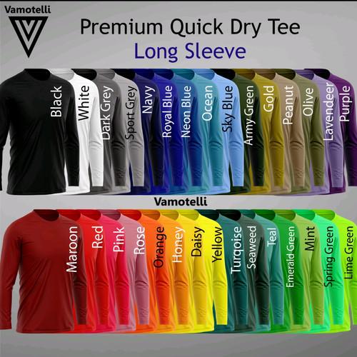 Foto Produk LONG SLEEVE - lengan panjang kaos Polos Oblong Dry-fit Drifit Olahraga dari Vamotelli
