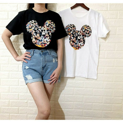 Foto Produk Baju Kaos Atasan Wanita Kaos Remaja Wanita Kaos Cewek Atasan Perempuan - Mickey Head HTM dari Suka Mart Official