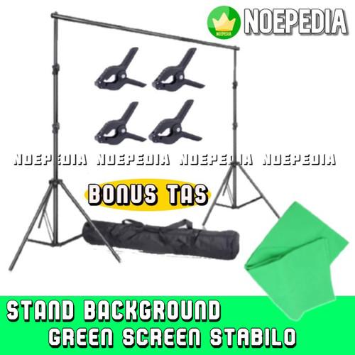 Foto Produk Stand Background 3 Meter / Bracket Green Screen / Tiang Backdrop 10 ft - SB HijauStabilo dari NoePedia
