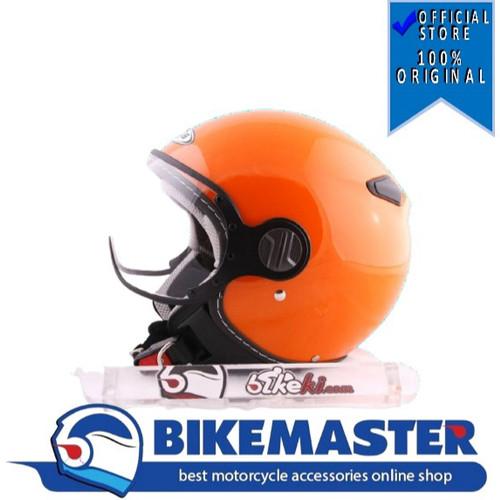 Foto Produk Helm Halfface Zeus Import ZS-210 Orange - XL dari Bike Master