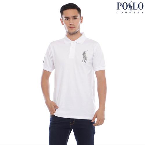 Foto Produk Polo Polo Country - Polo Shirt Pria - Logo Besar Emas 2115 - Hitam, M dari Polo Country Indonesia