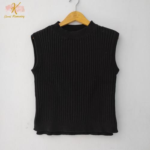 Foto Produk Thrift Vest Blouse Kaos Rajut Wanita Atasan Import Premium - GK003 dari Gerai Kemuning