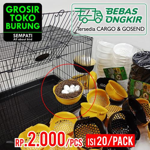 Foto Produk SARANG TEMPAT BERTELUR BURUNG PLASTIK JUMBO SUSUH KENARI LOVEBIRD20PCS dari Sempati Grosir