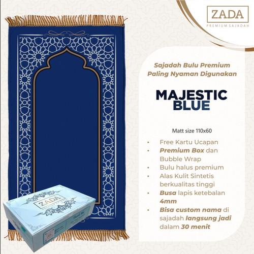 Foto Produk Sajadah bulu premium ZADA - paling nyaman digunakan bisa custom nama - Majestic Blue dari ZADA SAJDA