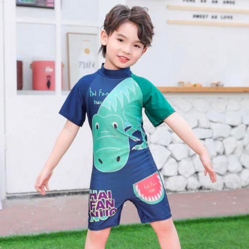 Foto Produk Baju Renang Anak Perempuan dan Anak Laki-Laki Pendek one piece - Dinosaur, XL dari So-Cute