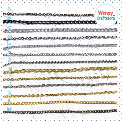 Foto Produk Rantai Kalung Rantai Gelang Bahan Accesories Rantai Aksesoris - Rantai D dari Wimpy Clay