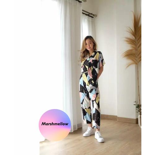Foto Produk Setelan Piyama Wanita HomeWear One Set Trendy Bisa Untuk Outfit Jalan - Marshmellow dari DjiehanClothing